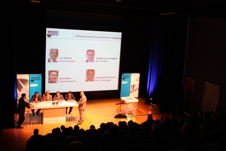 PortEconomics members co-sharing thought-provoking Scheldt conference 2013