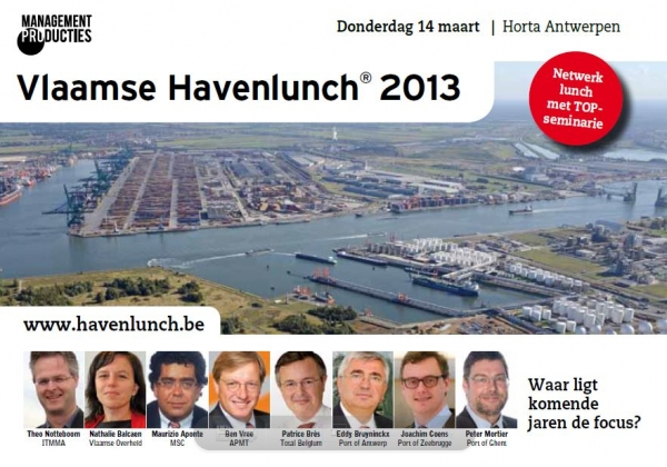 Porteconomics co-director chairs Port Lunch Flanders 2013