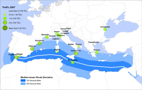 Mediterranean ports: participating in global trade networks
