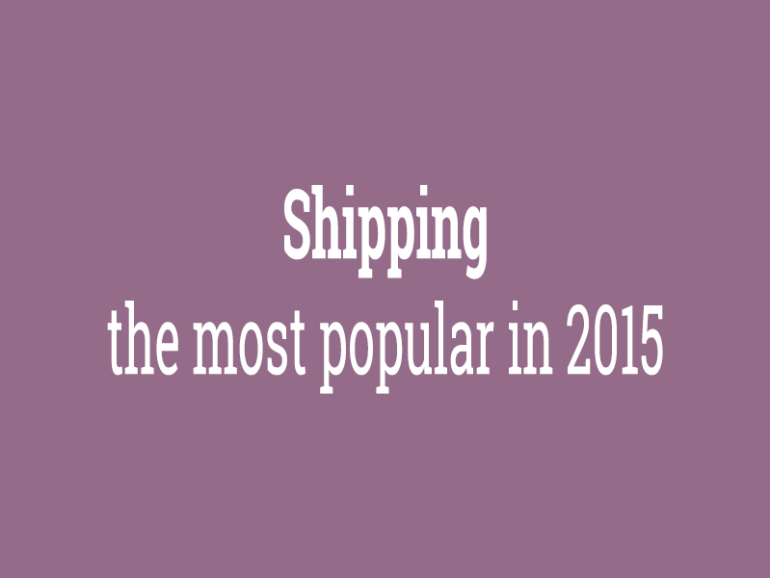 Shipping: the most popular in 2015
