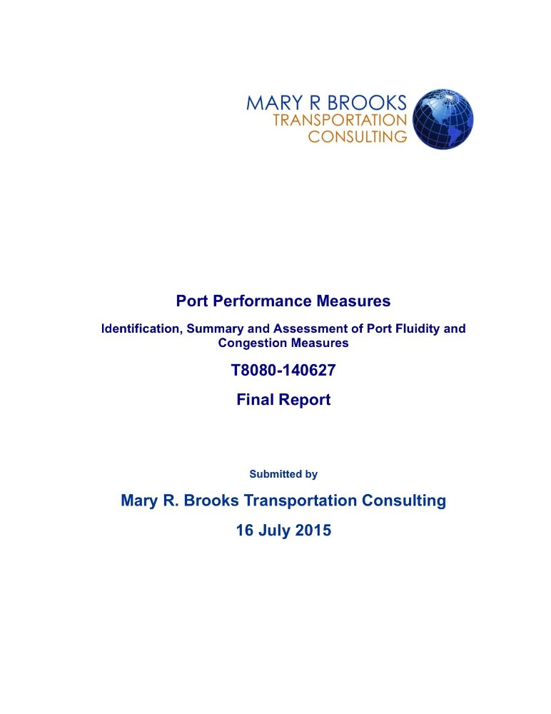 Port performance measures cover