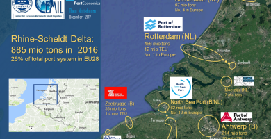 The Rhine-Scheldt delta: the no 1 logistics hub in Europe