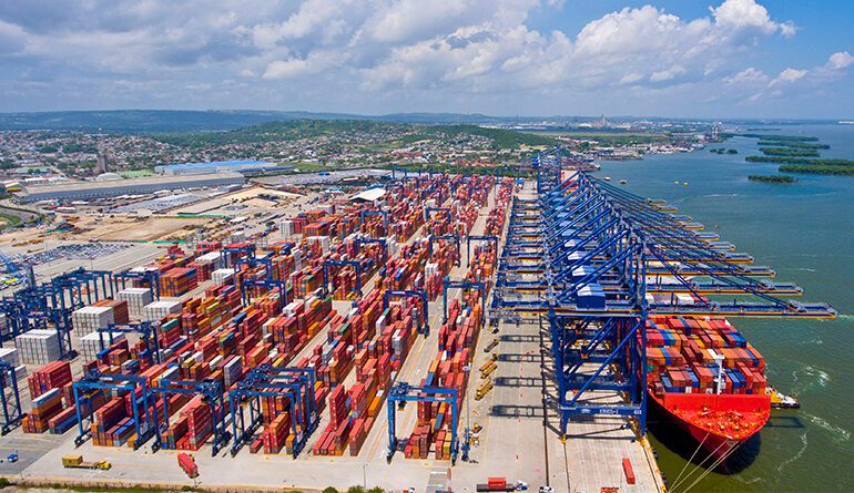 The correlation between the behaviour of ports and freight rates in Latin America and the Caribbean during the COVID19 pandemic