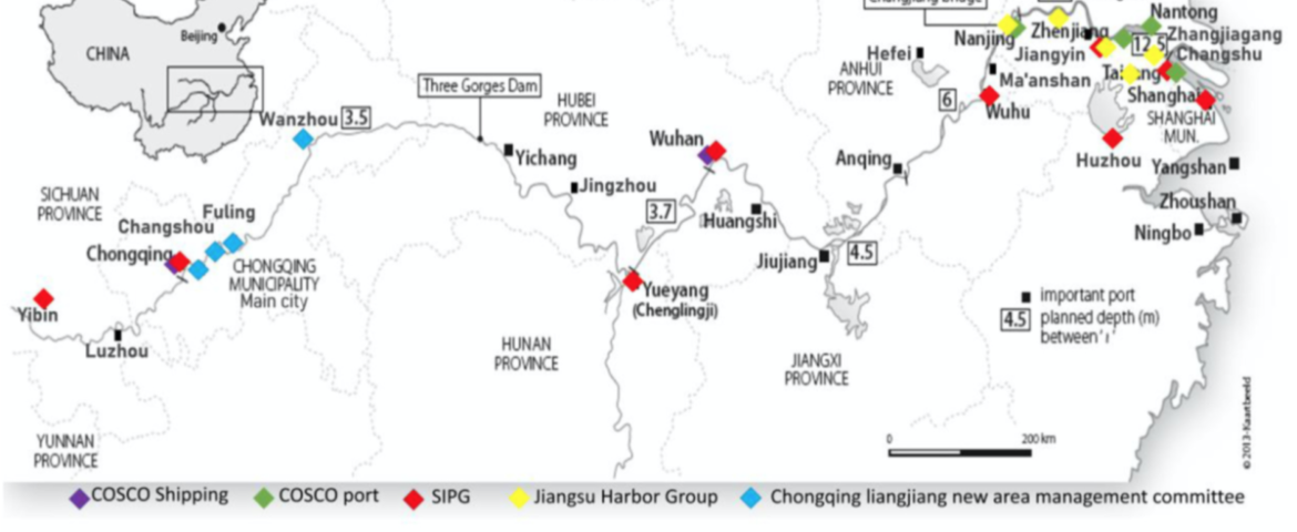 Entry strategies in inland container terminals: a comparison between Yangtze river and Rhine river