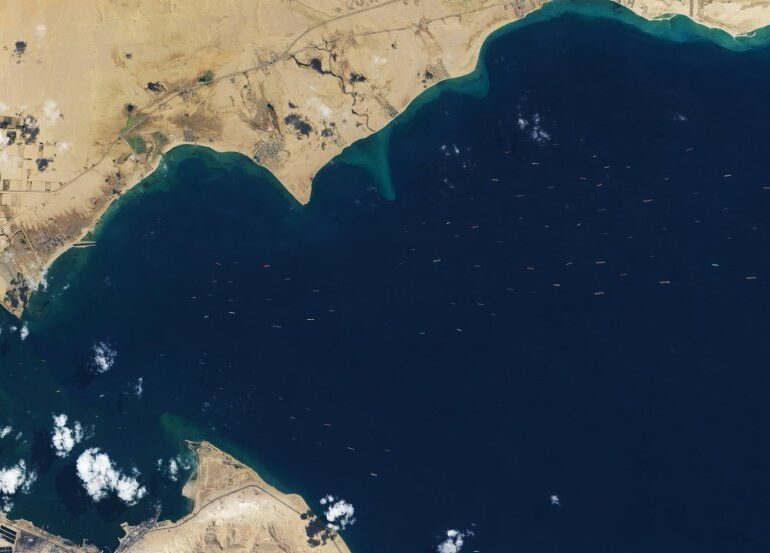 Resolving the Suez backlog: predicting ship transits in capacity-constrained areas